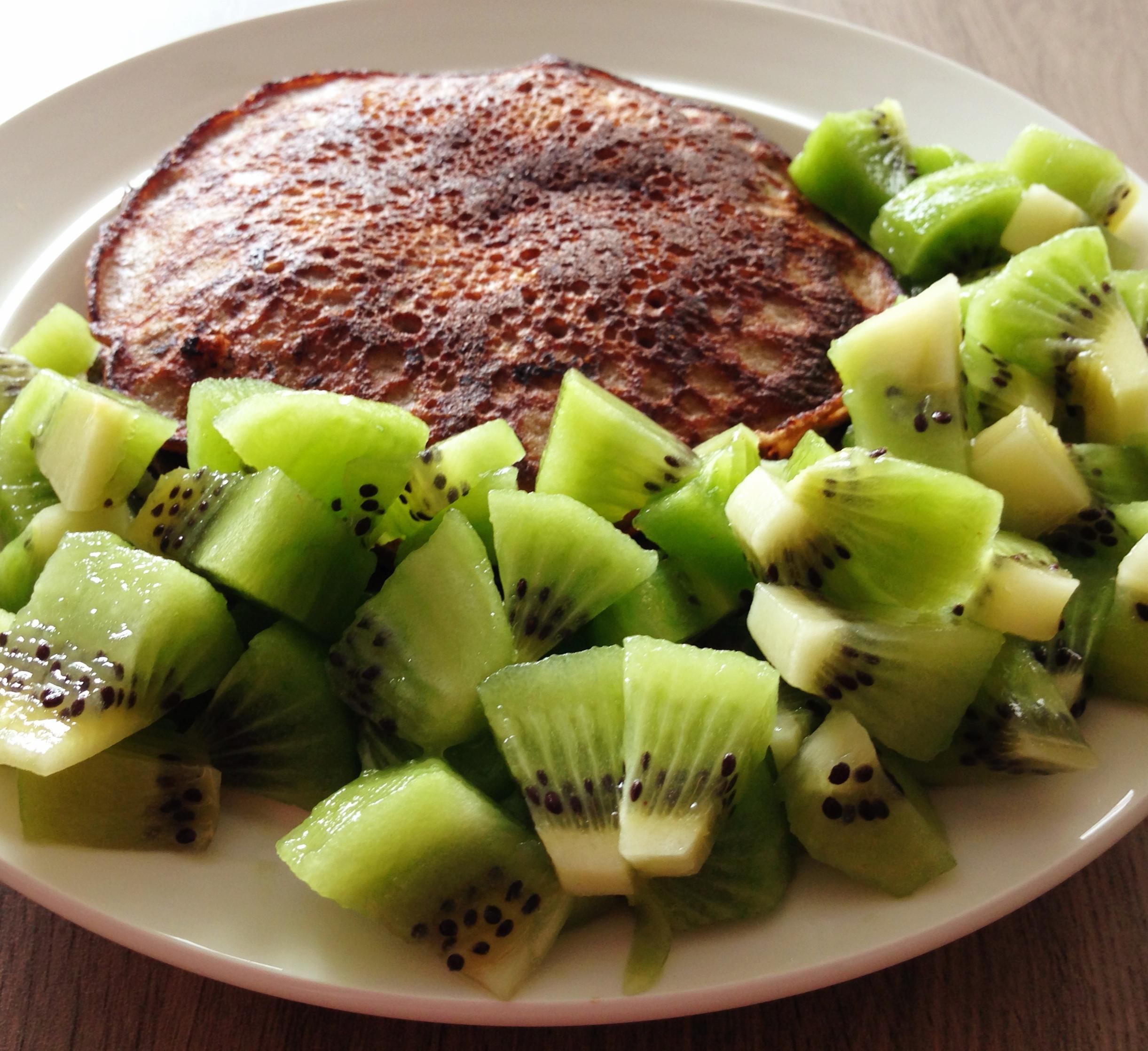 Pannenkoekjes met kiwi